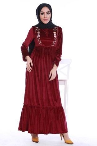 - Kadife Elbise 4466-05