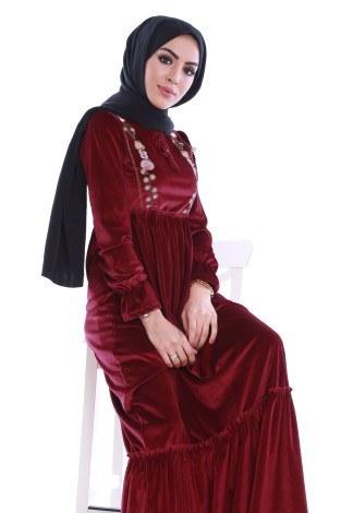- Kadife Elbise 4466-05 (1)