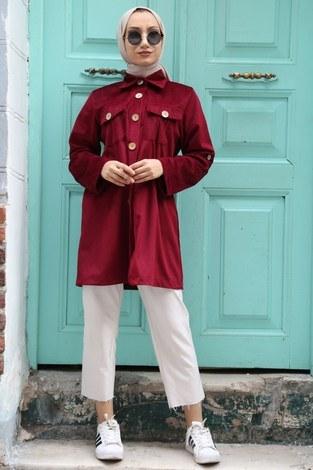 Kadife Tunik Gömlek 7011-03 - Thumbnail