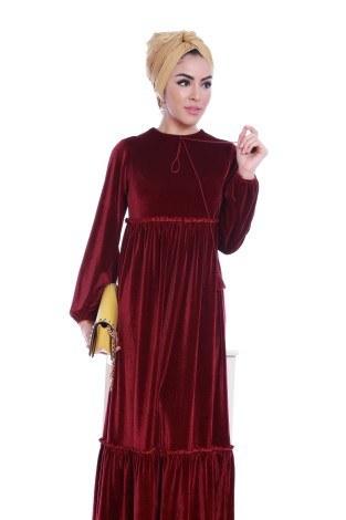 - Kadife Şık Elbise 6587-02 (1)