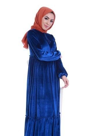 - Kadife Şık Elbise 6587-04 (1)