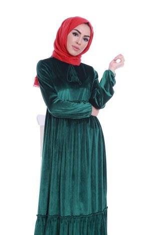- Kadife Şık Elbise 6587-05 (1)