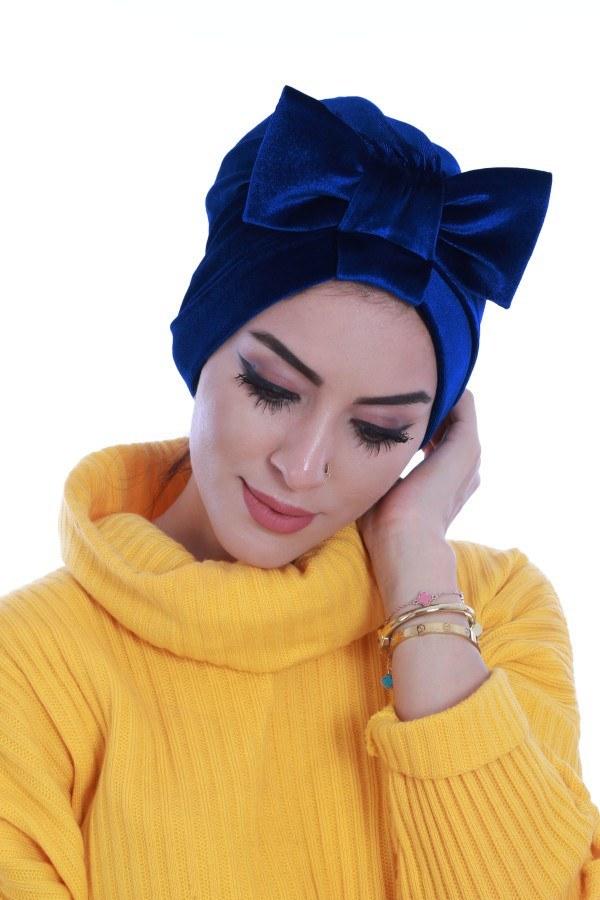 Eşarp ve Şal - Kadife Sosyete Bone 7665-12