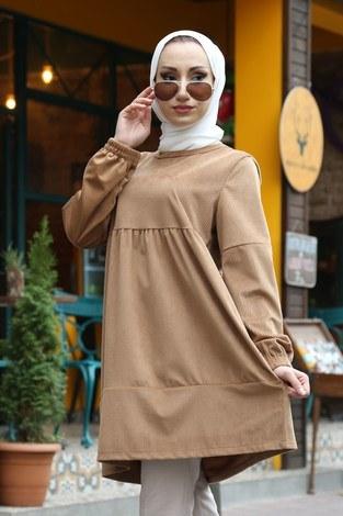 - Kadife Tunik MQ2377-29 camel (1)