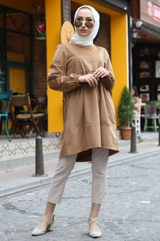 - Kadife Tunik MQ2377-29 camel