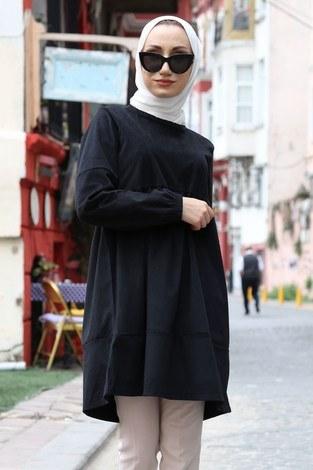 - Kadife Tunik MQ2377-01 siyah (1)