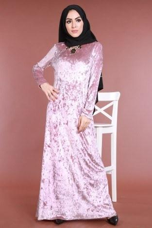 - Kadife Elbise 2159-1