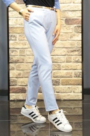 Bilek Pantalon 8316-10 Su Mavisi - Thumbnail