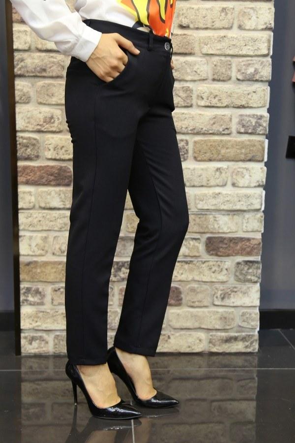 Bilek Pantalon siyah 8316-4