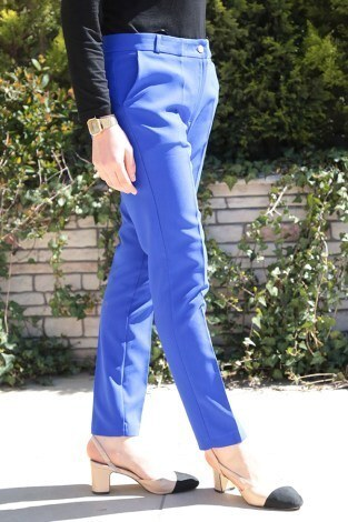 Bilek Pantalon 8316-7 Saks - Thumbnail