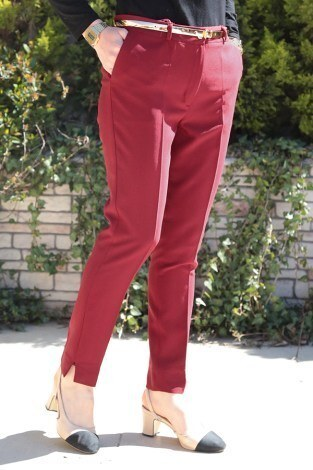 - Bilek Pantalon 8316-9 Bordo (1)