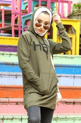 - Kanguru Cep Kapüşonlu hey Baskılı Tunik 2549-3 (1)