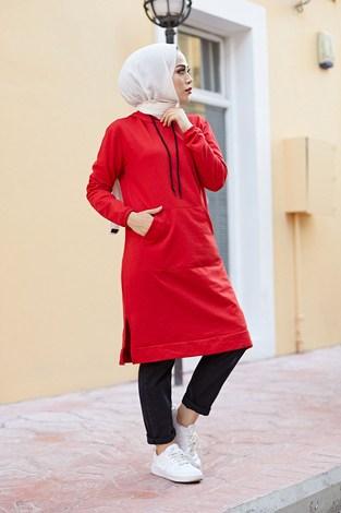 - Kanguru cepli tunik 62871-15 Kırmızı (1)