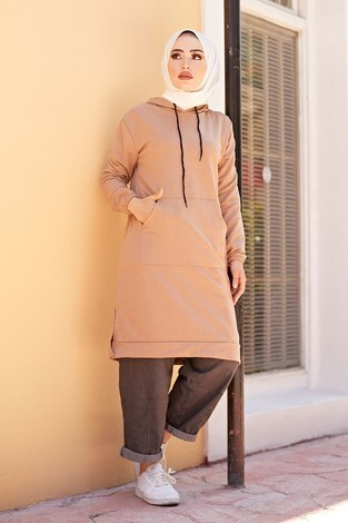 - Kanguru cepli tunik 62871-20 Camel