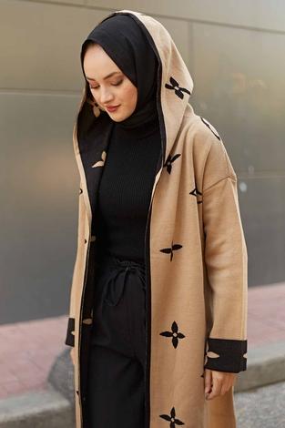 - Kapşonlu Hırka 2362-2 Camel (1)