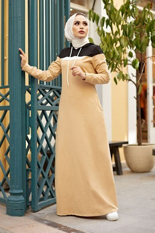 - Kapşonlu Spor Elbise 9348-3