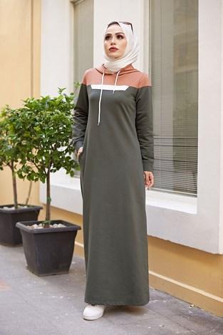 - Kapşonlu Spor Elbise 9348-5