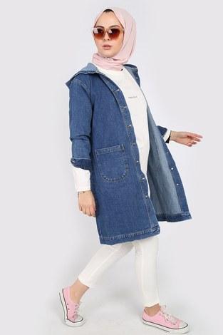 - Kapüşonlu Kot Ceket 40100-1 (1)