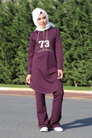 - Kapüşonlu Tarz Eşofman Takımı 99195-6