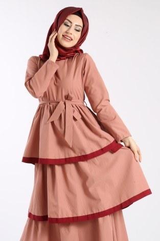 - Katlı Tarz Elbise 5968-4 (1)