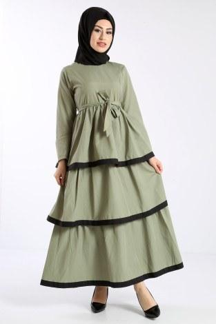 - Katlı Tarz Elbise 5968-3