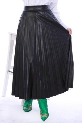 - Piliseli Deri Etek 3570-01 Siyah (1)
