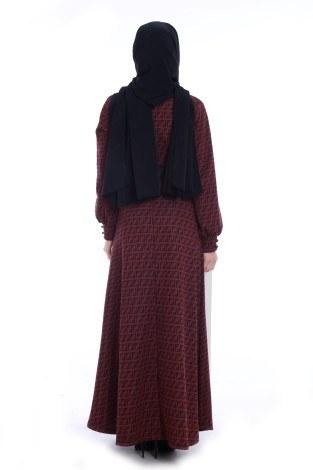Kemerli Elbise 3770-05 - Thumbnail
