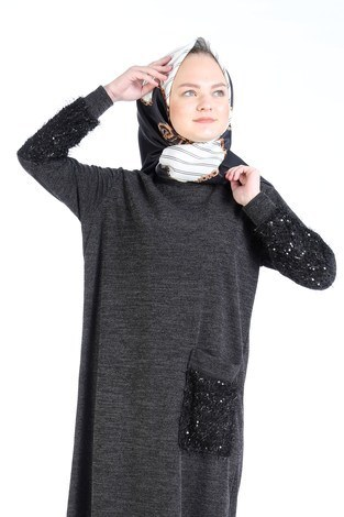- Pul Payet Detaylı Elbise 2801-21 (1)