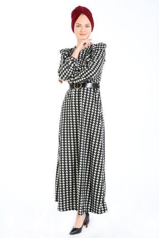 Kemerli Elbise 7999-01 - Thumbnail