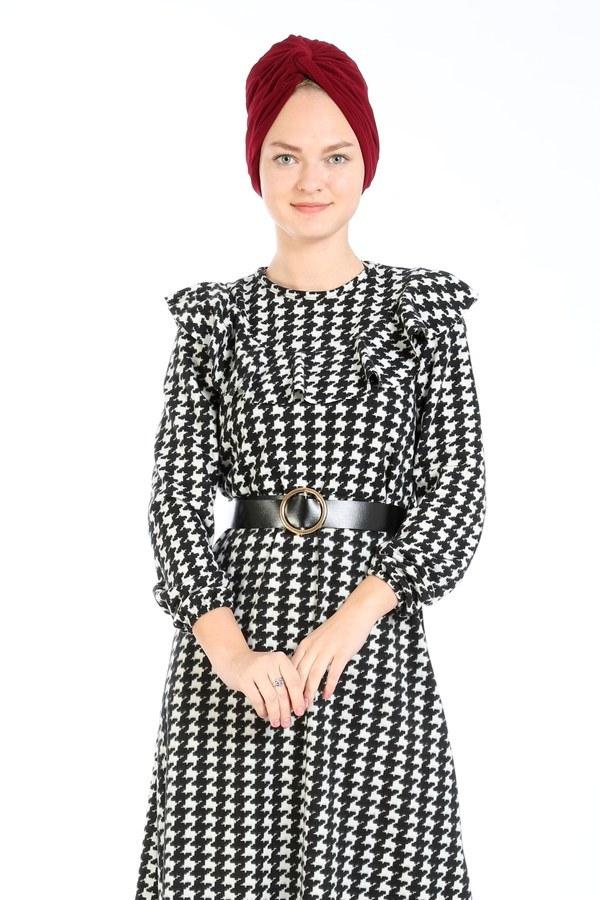Kemerli Elbise 7999-01