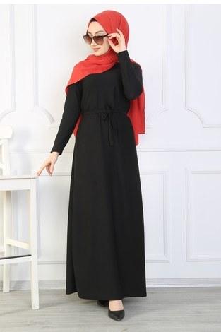 - Kemerli Elbise 8508-380