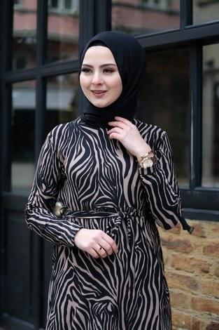 - Zebra Desenli Elbise 8508-386 (1)
