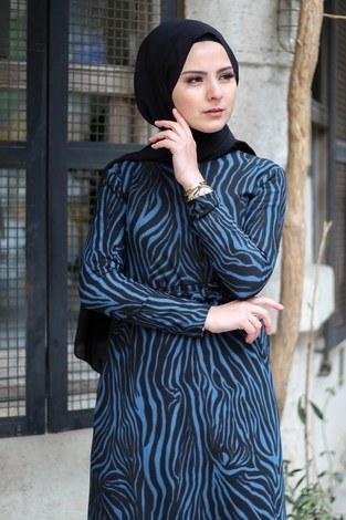 - Zebra Desenli Elbise 8508-387 (1)