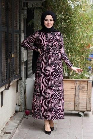 - Zebra Desenli Elbise 8508-388
