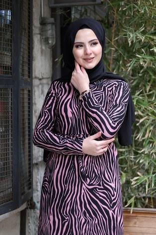 - Zebra Desenli Elbise 8508-388 (1)