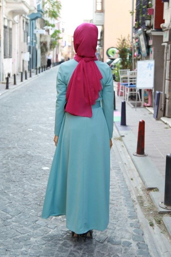 Kemerli Elbise 91101-03