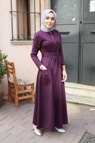 Kemerli Elbise 91101-04 - Thumbnail