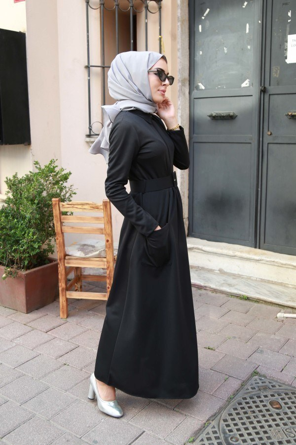 Kemerli Elbise 91101-05