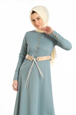 - Kemerli Güpür Detaylı Elbise 1683-05 (1)