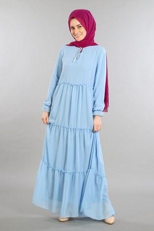 - Fırfırlı Şifon Elbise 5241-02