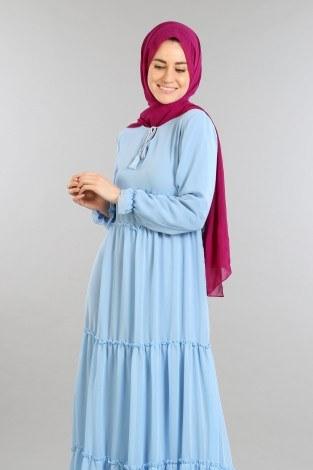 - Fırfırlı Şifon Elbise 5241-02 (1)