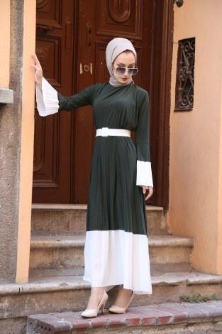 - Kemerli Pilise Elbise 8392-04