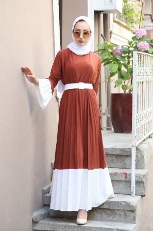 - Kemerli Pilise Elbise 8392-16