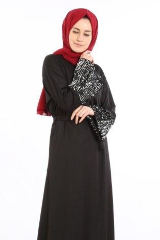 - Pul Payet Detaylı Elbise 5664-01 (1)