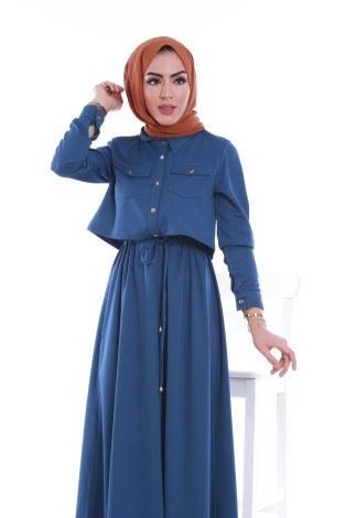 - Şık Tesettür Elbise 8201-02 (1)