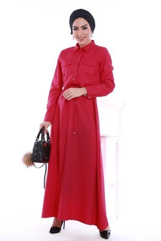 - Şık Tesettür Elbise 8201-08