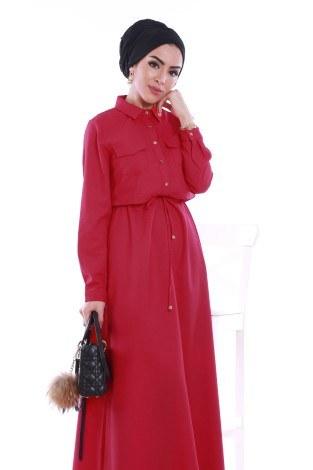 - Şık Tesettür Elbise 8201-08 (1)