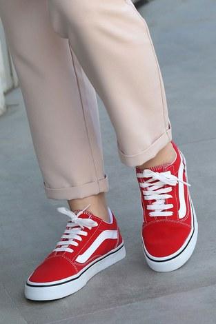 - Kırmızı Spor Ayakkabı 6157-4