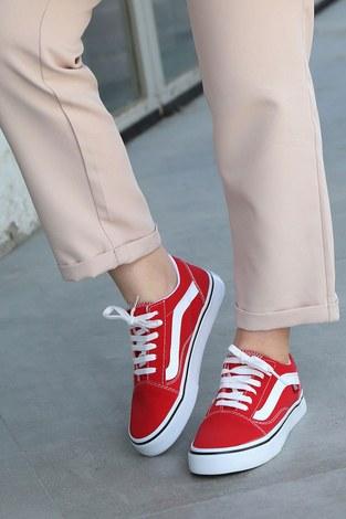 - Kırmızı Spor Ayakkabı 6157-4 (1)