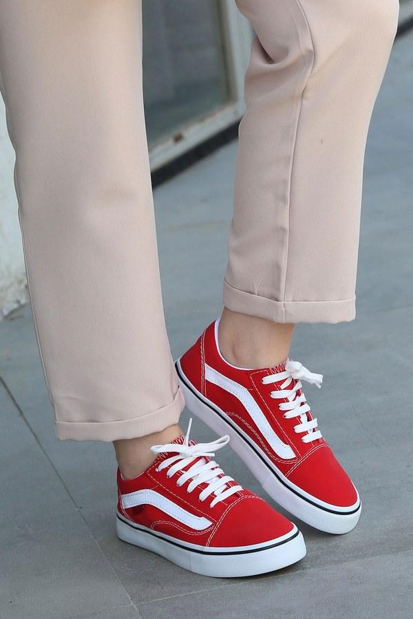 Kırmızı Spor Ayakkabı 6157-4